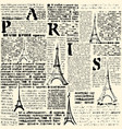 halftone newspaper paris vector image vector image