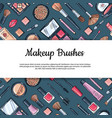 hand drawn makeup products background vector image