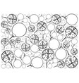 hand drawn of lovely christmas ornaments backgroun vector image vector image