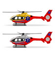 helicopter emergency ambulance air ambulance vector image vector image