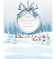 holiday christmas background with getting card vector image vector image