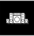 home theater icon flat vector image vector image