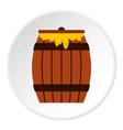 honey keg icon circle vector image vector image