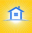House sunburst logo vector image vector image