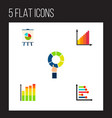 icon flat chart set of diagram infographic chart vector image vector image