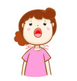 ill woman sore throat cartoon vector image