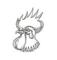 junglefowl head doodle art vector image vector image