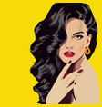 lady-with-curl-hair vector image vector image