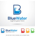 letter b water logo template