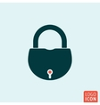 Lock icon isolated vector image vector image