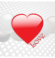 Love heart on white thecno background vector image vector image