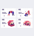love proposal and engagement website landing page vector image