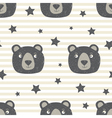 Pattern with Teddy Bear vector image vector image