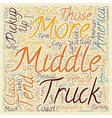 Pick Up Trucks The Symbol Of Today s Middle vector image vector image