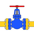 Pipeline valve vector image vector image