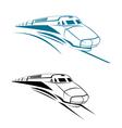 railroad and subway symbols vector image vector image