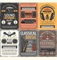 retro music studio musical instruments studio vector image