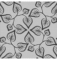 seamless black leaves lace pattern on white vector image vector image