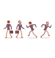 set of male teacher walking and running rear vector image vector image