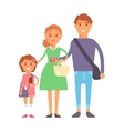 Shopping family vector image