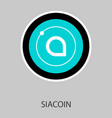 siacoin blockchain cryptocurrency connected vector image vector image
