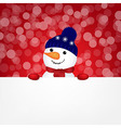Snowman With Bokeh vector image