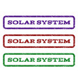 solar system watermark stamp vector image vector image