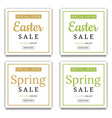 spring and easter sale banner template background vector image vector image