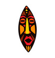 stylized african mask vector image