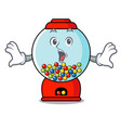 surprised gumball machine mascot cartoon vector image vector image