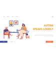 therapy session with autism disorder child landing vector image