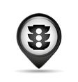traffic light pin icon vector image