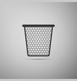 trash can icon isolated on grey background vector image vector image