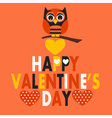 Valentines day owl vector image
