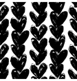 valentines pattern with hand painted hearts vector image