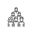 voters - line design single isolated icon vector image vector image