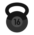 Weight icon flat style vector image