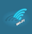 wi-fi network icon flat design cartoon style vector image