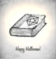 Witches book with spells in a sketch style vector image vector image