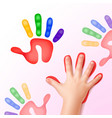 baby hand with prints vector image