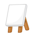 canvas painting on easel vector image