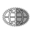 global technology communication connection line vector image