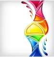 Splash in various colours vector image