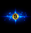 abstract bitcoin digital currency background vector image vector image