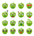 apple emoji emoticon expression vector image