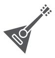 balalaika glyph icon music and string folk vector image