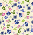 beautiful vintage floral pattern vector image vector image