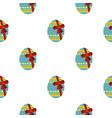 big easter egg pattern seamless vector image vector image