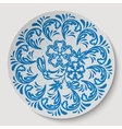 Blue circle floral ornament Pattern drawing to the vector image vector image