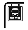 bus stop sign icon simple style vector image vector image